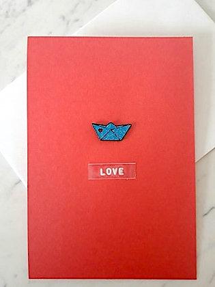 Love postcard met PIN 'the love boat'