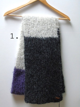 Handknitted Scarf Louise in 6 colors