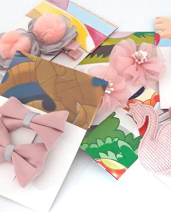 2 haarspeldjes/clips 'Pink colors'