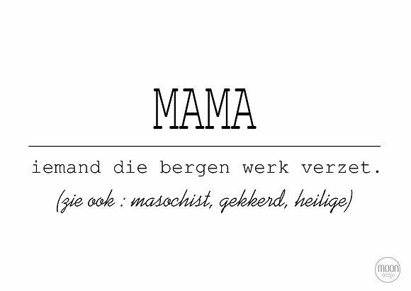 Mama collection . Card + envelop