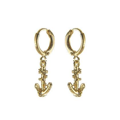 Earrings Anker in silver or gold