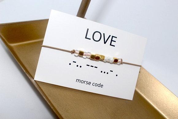 Bracelet morsecode LOVE