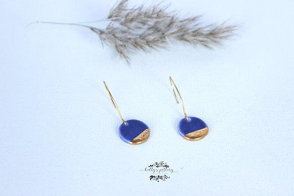 Porcelain earrings Elegante eenvoud