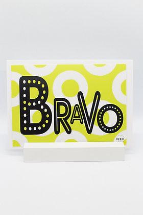 Card + envelop: 'Bravo'