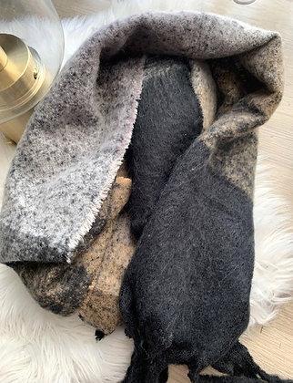 Sjaal Mix black-brown