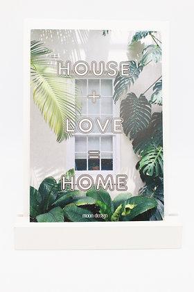 Card + envelop 'House + Love = Home'