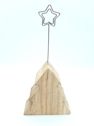 Kaartenhouder kerstboom of ster