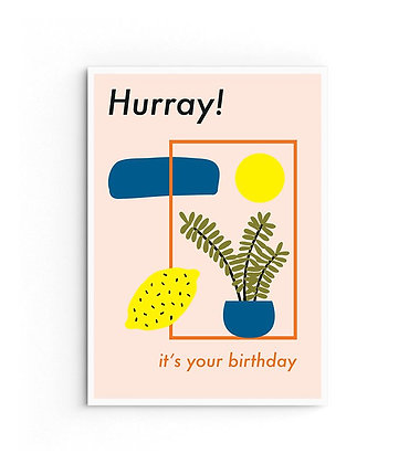 Card 'Hurray it's your birthday'
