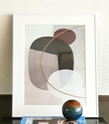 Ingelijste print 'Perfect bun' 30x40 of 40x50