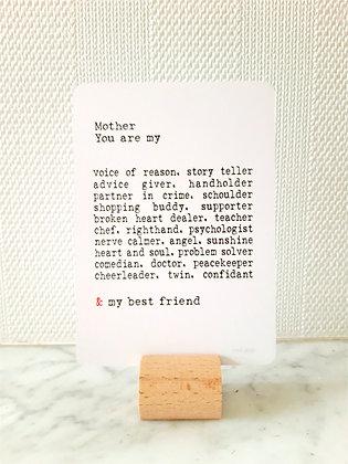 Luxe kaart'Mother'