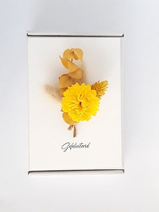 Flowercard 'Gefeliciteerd