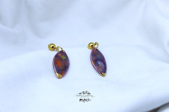 Porcelain earrings Floral fantasy