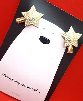 Card with 2 hairpins