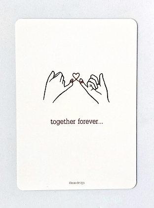 Card + envelop 'Together forever'