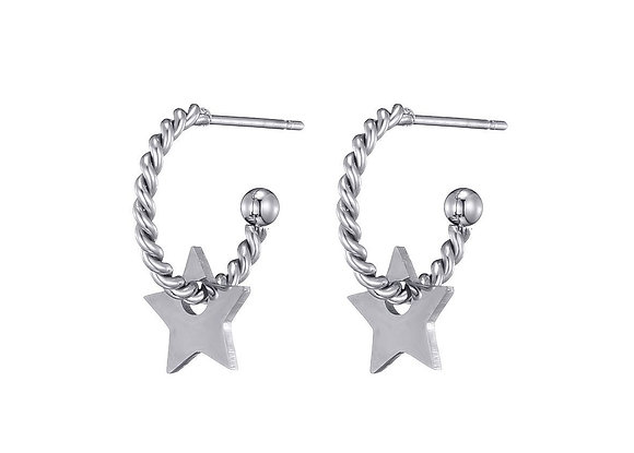 Earring Star gold or silver