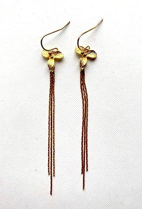 MARIE FRISINE Earrings flower chain