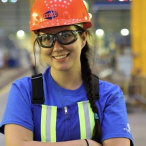 Julia Boyle'15 pushing boundaries at Irving Shipbuilding