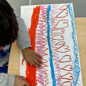 "Arts: Grade One students create their own ""Laurel Burch"" artwork"