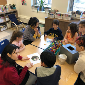 Academics: Grade Two students work with NSCAD