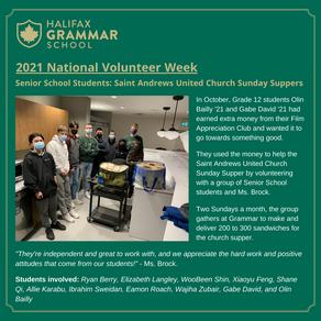 ALTRUISM: Grammar celebrates National Volunteer Week!