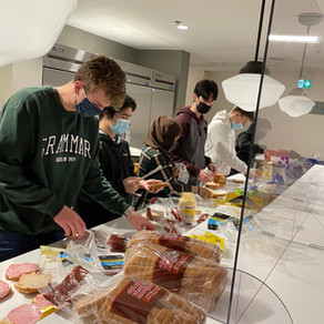 ALTRUISM: Saint Andrews United Church Sunday Supper served sandwiches by the Senior School!