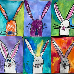 ARTS: Grade One's Spring Bunnies for their Spring Break!