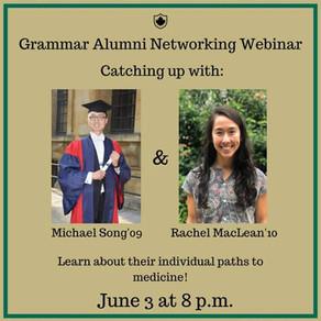 Grammar Alumni Networking Webinar