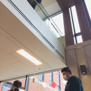 ACADEMICS: Grade Twelve Physics in the atrium