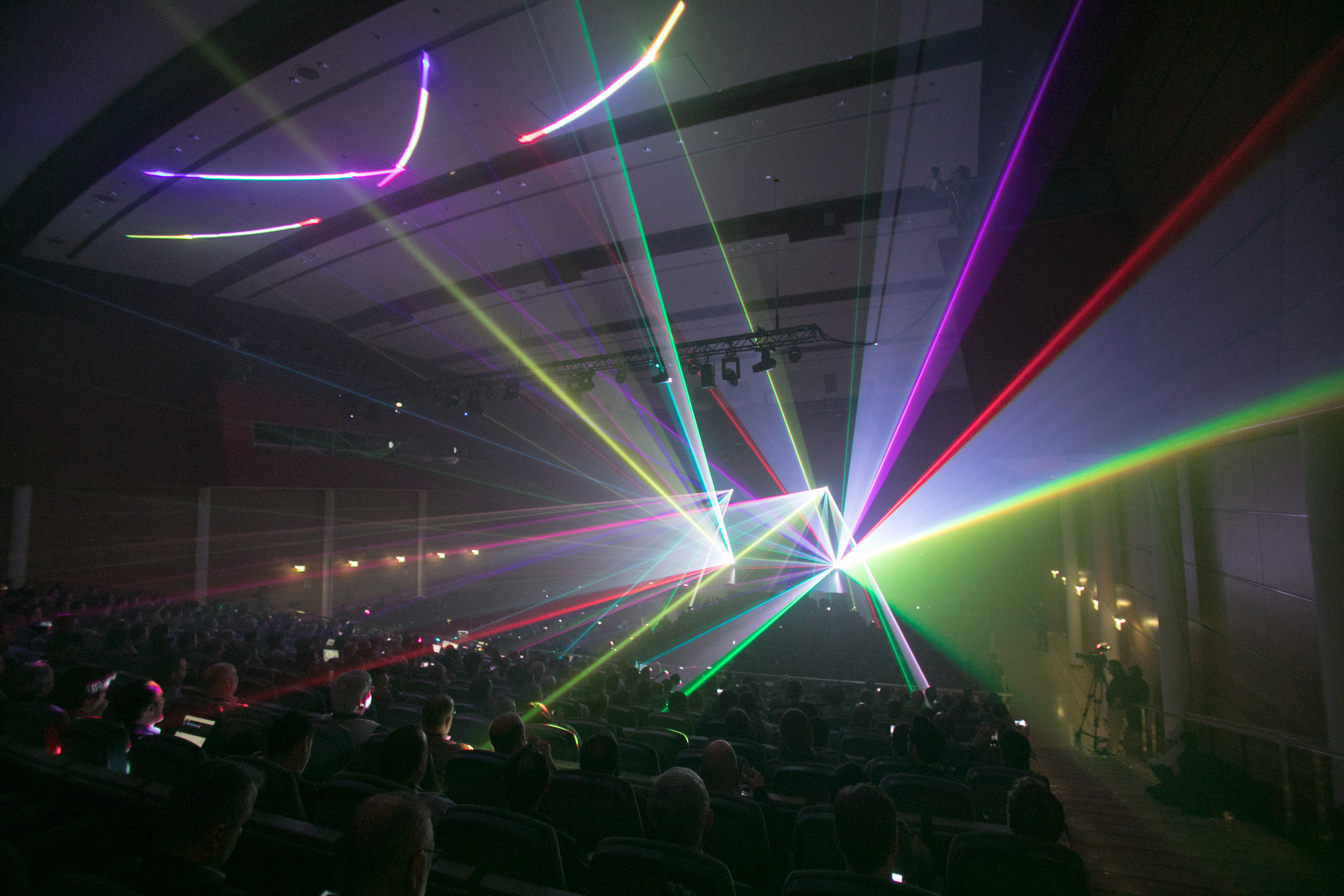 Corporate meeting effects laser