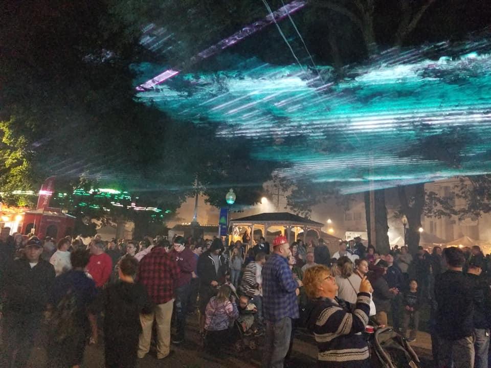 City harvest festival laser show