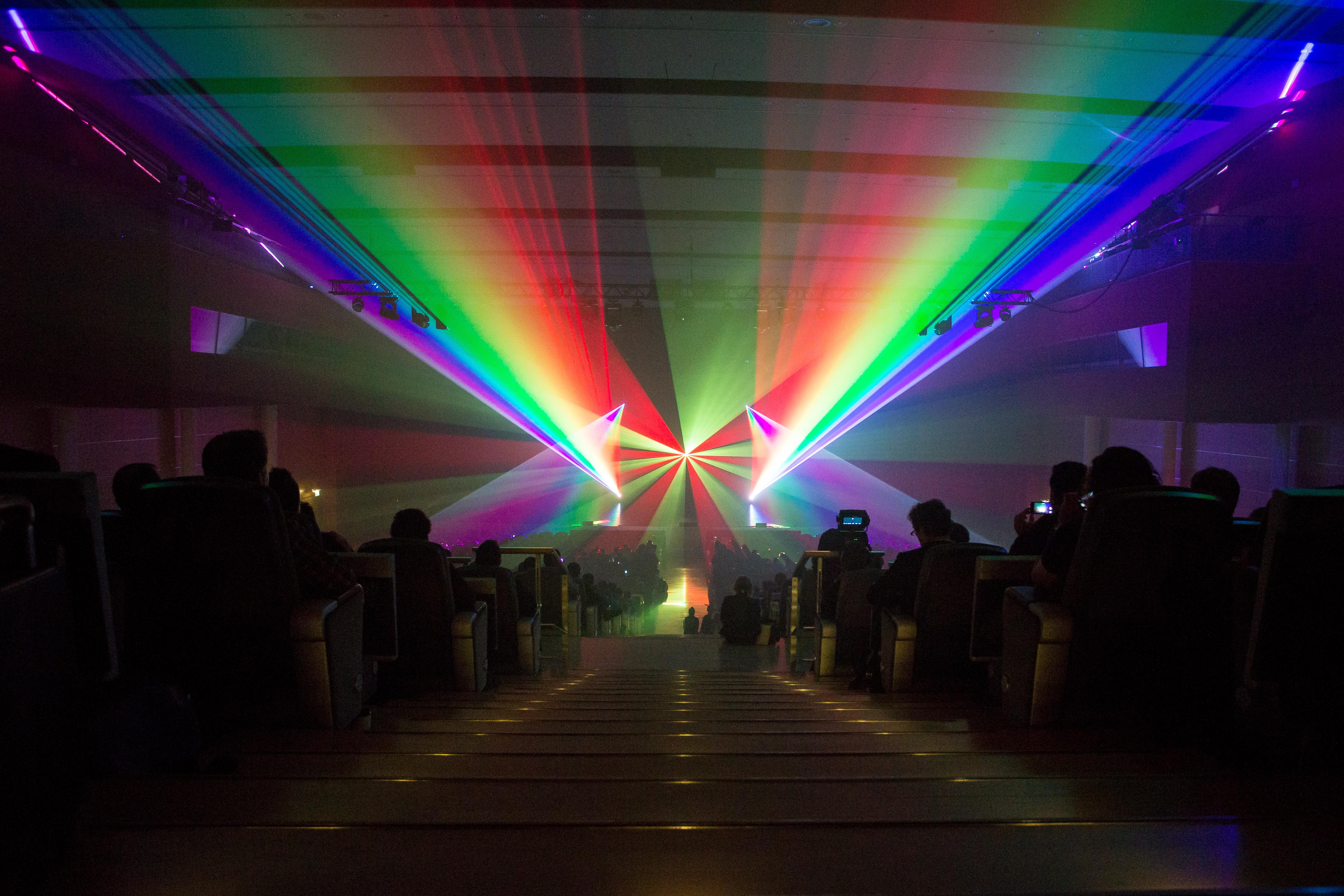 Hadoop corporate laser show intro