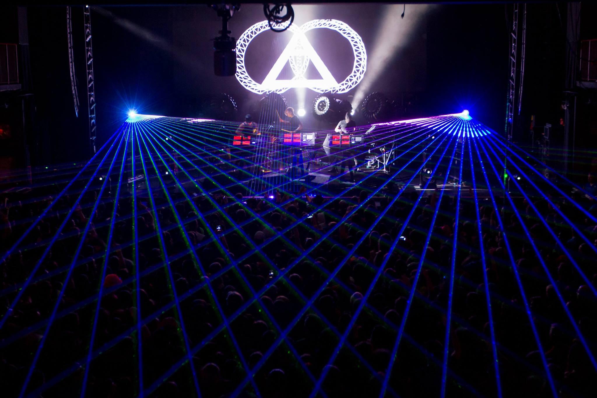 GLITCH MOB Laser Beam Show