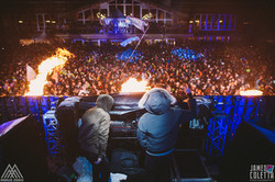 Minus Zero Festival with flame effects