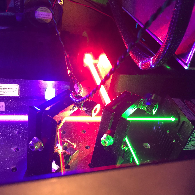 Inside of a laser