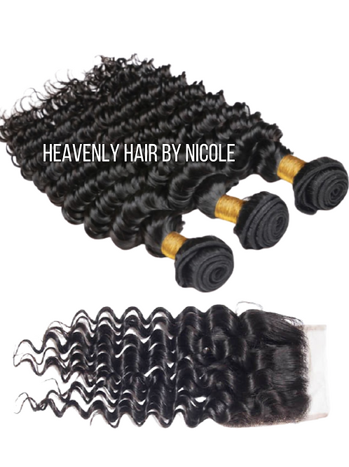 3 Bundles w/Closure - Deep Wave