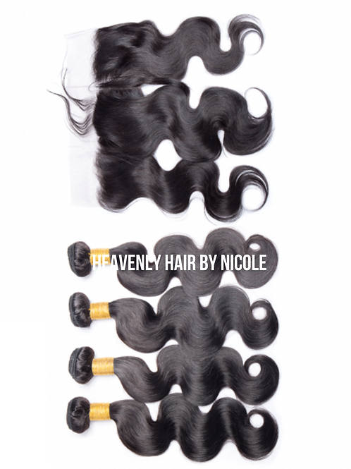 4 Bundles w/Frontal - Body Wave