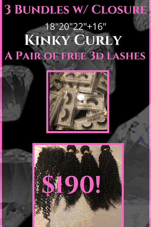 Heavenly Deal - Kinky Curly with closure