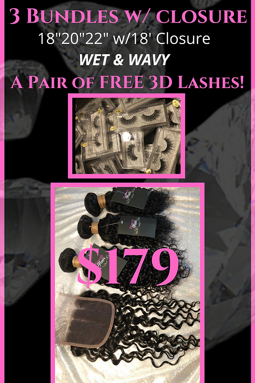 Heavenly Deal - Wet and Wavy with closure