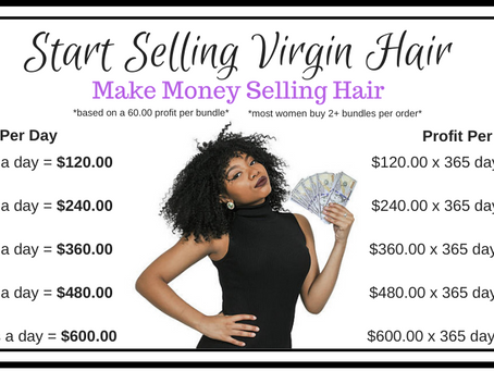 How to make your first sell and build your hair business