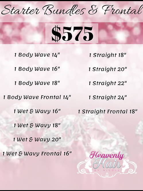 Bundles & Frontal Package - 10 Bundles & 3 Frontals