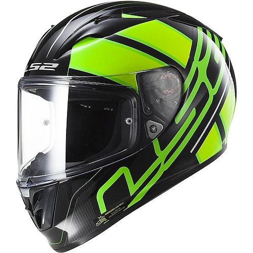 LS2 FF323 Arrow R Evo Ion Black/Fluo Green