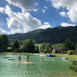 Floß am Teich
