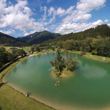 Luftaufnahme Teich