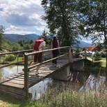 kleine Brücke am See
