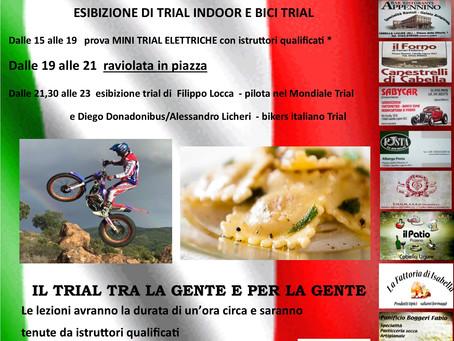 Trial in piazza a Cabella Ligure