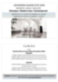 flyer A6 STAGE ETE ARCEAUX 2020  - copie