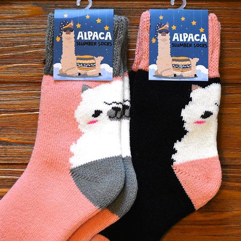 Alpaca Slumber Crew Socks