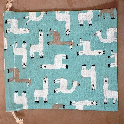 Alpaca Cotton Drawstring Bag