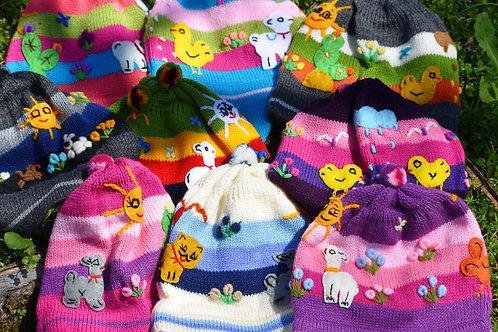 Knit Ear Flap Hat for Children