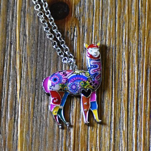 Colorful Alpaca Charm Necklace